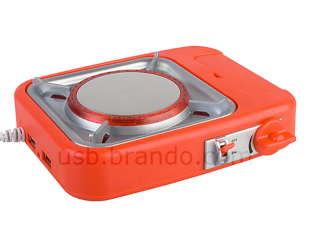 Usb Gas Stove Cup Warmer With 2 Port Hub