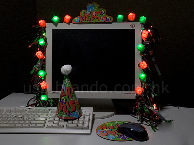 Computer Christmas Lights