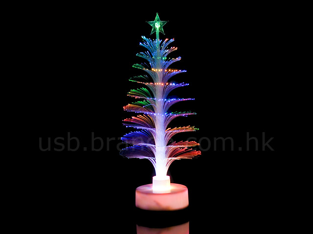 USB Fiber Optic Christmas Tree(White