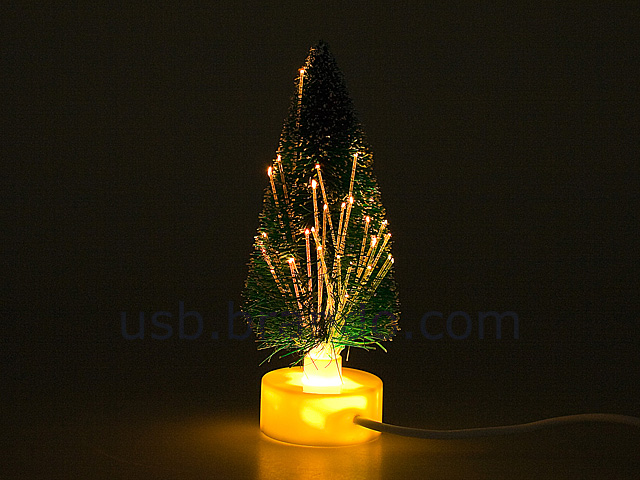 White Fiber Optic Christmas Tree